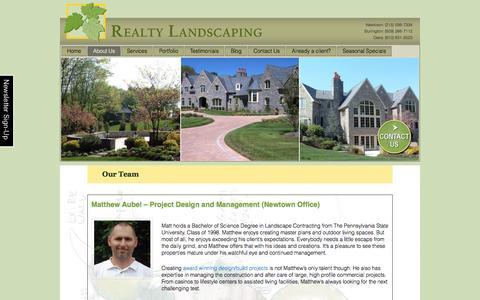 Screenshot of Team Page realtylandscaping.com - Our Team of Landscape Maintenance Pros, Designers & Creators - captured Dec. 15, 2016