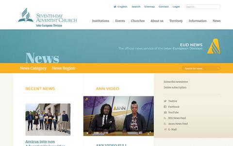 Screenshot of Press Page adventist.org - Inter-European Division News - captured July 4, 2018