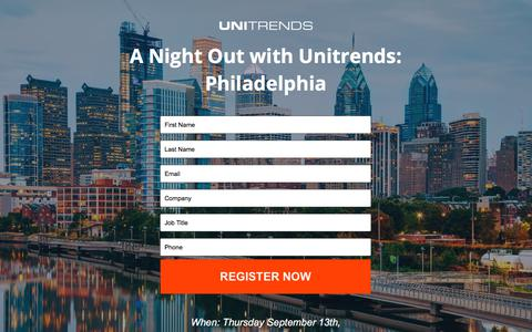 Screenshot of Landing Page unitrends.com - Lunch and Learn - captured Sept. 18, 2018