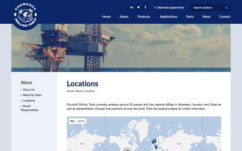 Screenshot of Locations Page circsub.com - Locations | Churchill - captured July 30, 2017