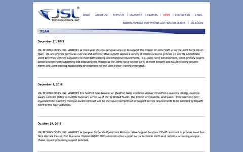 Screenshot of Press Page jsltechinc.com - News | JSL Technologies Inc - captured Oct. 18, 2019