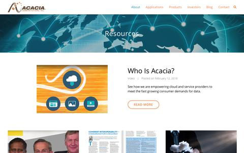 Resources - Acacia Communications, Inc.