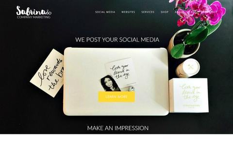 Screenshot of Home Page sabrinacompany.com - Sabrina&Company | Social Media | WordPress Websites | Desire Map Workshops - captured Nov. 18, 2016