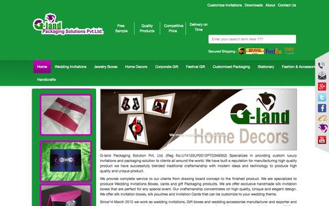 Screenshot of Home Page g-land.in - G-land - Home - captured Oct. 1, 2014