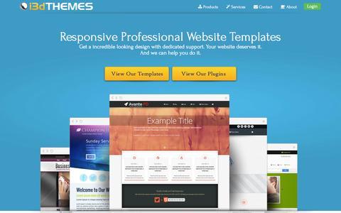 Screenshot of Home Page i3dthemes.com - Website Templates | Web Templates | WordPress Themes - captured Sept. 19, 2014