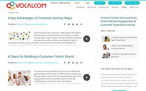 Screenshot of Blog vocalcom.com - Contact Center Blog - Tips, Resources, Guides and Articles - Page 5 - captured Jan. 14, 2019