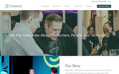 Screenshot of About Page totango.com - About Us | Totango | Customer Success Software - captured May 5, 2018