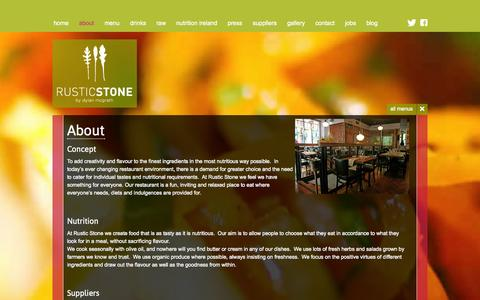 Screenshot of About Page rusticstone.ie - Dublin Restaurant Offers, Restaurant Offers Dublin, Rustic Stone Restaurant - captured Oct. 9, 2014