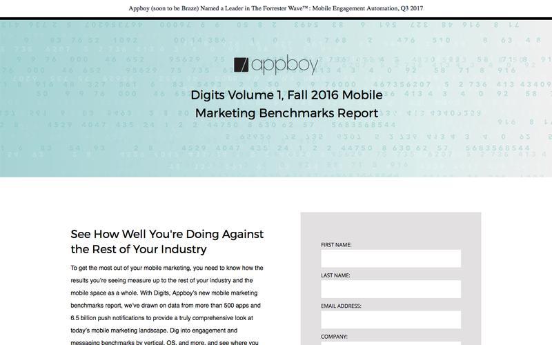 Digits Mobile Marketing Metrics | Appboy
