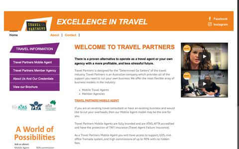 Screenshot of Signup Page travelpartners.com.au - Home Page - Join Travel Partners - captured Oct. 20, 2018