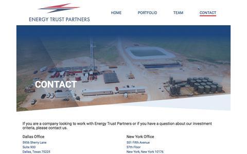 Screenshot of Contact Page energytrustpartners.com - Contact - Energy Trust - captured July 19, 2018