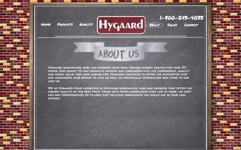 Screenshot of About Page hygaard.com - About | Hygaard - captured March 5, 2016