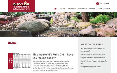 Screenshot of Blog naylorlandscape.com - Blog – Naylor Landscape Management - captured Oct. 19, 2017