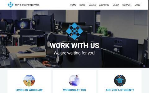 Screenshot of Jobs Page tensquaregames.com - Jobs | Ten Square Games - captured July 3, 2016