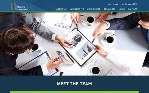 Screenshot of Team Page bacelineinvestments.com - Team | Baceline Investments - captured July 28, 2016