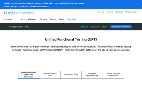 Unified Functional Testing