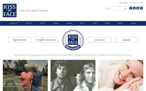 Screenshot of Blog kissmyface.com - Blog | Kiss My Face - captured Oct. 15, 2018