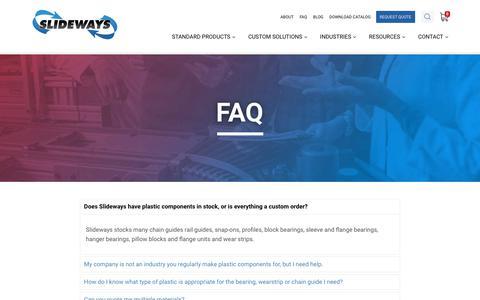 Screenshot of FAQ Page slideways.com - FAQ                 – Slideways, Inc. - captured Oct. 2, 2018