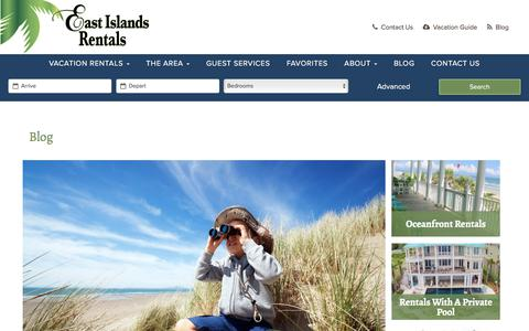 Screenshot of Blog eastislandsrentals.com - Blog - East Islands Rentals - captured July 2, 2018