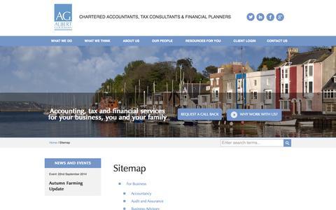 Sitemap - Albert Goodman - Chartered Accountants