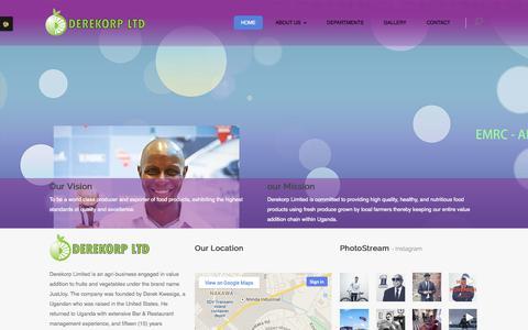 Screenshot of Home Page derekorp.com - Derekorp Limited - captured Oct. 5, 2014
