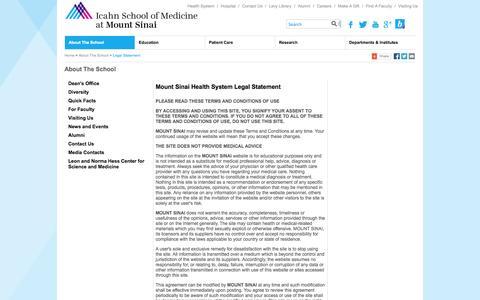Screenshot of Terms Page mssm.edu - Legal Statement - Icahn School of Medicine at Mount Sinai - captured Sept. 23, 2014