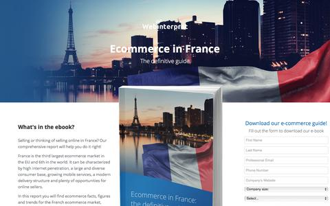 Screenshot of Landing Page webinterpret.com - Ecommerce in France: the definitive guide - captured Sept. 19, 2018
