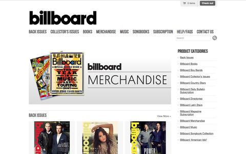 Billboard Magazine Back Issues Store