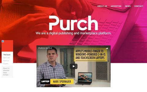 Screenshot of Home Page purch.com - Purch - captured June 24, 2017