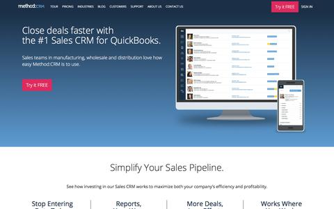 CRM Software For QuickBooks | Method:CRM