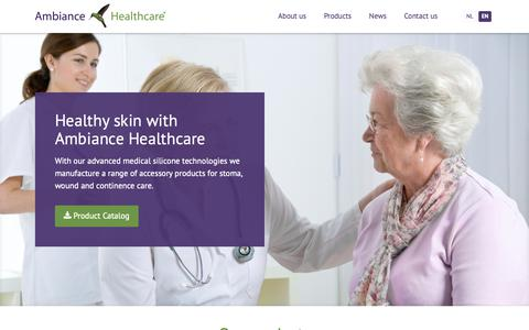 Screenshot of Home Page ambiancehealthcare.com - Stoma Wound and Incontinence care | Ambiance Healthcare - captured Nov. 12, 2018