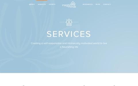 Screenshot of Services Page insightminds.com - Services – Insight Minds - captured June 7, 2017