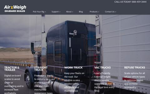 Screenshot of Home Page air-weigh.com - Truck Scales - Air Weigh - captured June 30, 2019