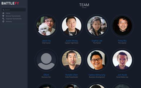 Screenshot of Team Page battlefy.com - Our Team - captured Nov. 4, 2018