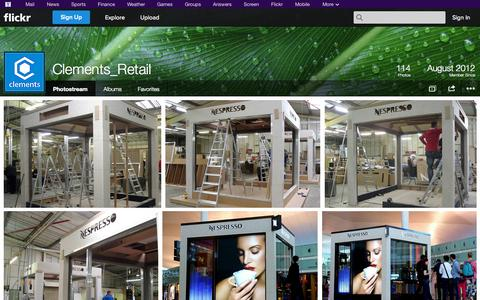 Screenshot of Flickr Page flickr.com - Flickr: Clements_Retail's Photostream - captured Oct. 23, 2014