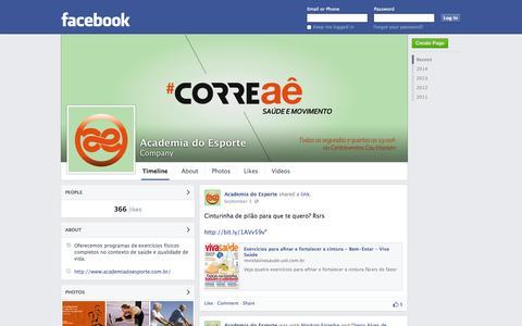 Screenshot of Facebook Page facebook.com - Academia do Esporte | Facebook - captured Oct. 23, 2014