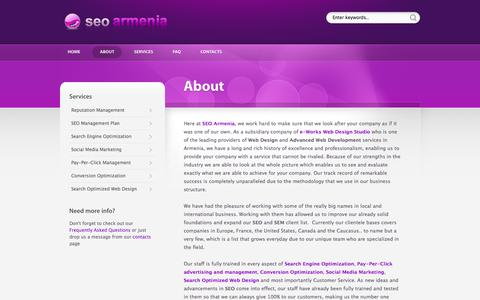 Screenshot of About Page seo.am - About Company | SEO Armenia - captured Oct. 3, 2014