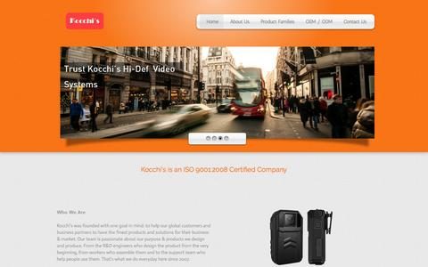 Screenshot of Home Page kocchis.com - Kocchi's - We Believe In The Products We Make - captured Feb. 12, 2016
