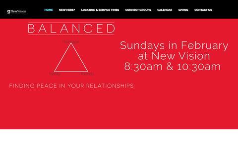 Screenshot of Home Page newvisionwestmoreland.com - New Vision Westmoreland - captured Feb. 16, 2016