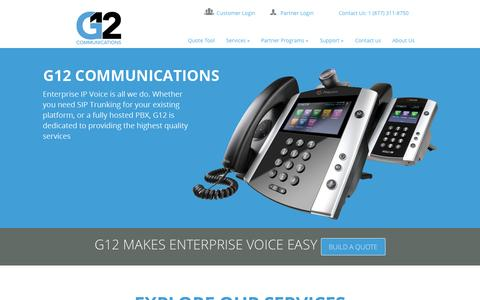 Screenshot of Contact Page g12communications.com - G12 Communications | Enterprise IP Voice Services - captured Oct. 9, 2014
