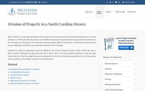 Divorce Property Division NC | Charlotte NC Divorce Lawyer & Family Law Attorneys - McIlveen Family Law