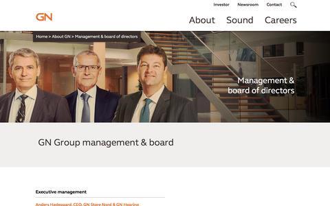 Screenshot of Team Page gn.com - Management - captured Oct. 16, 2016