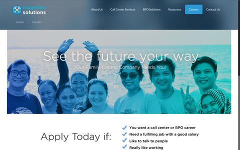 Screenshot of Jobs Page magellan-solutions.com - Careers | Magellan Solutions - captured July 10, 2018