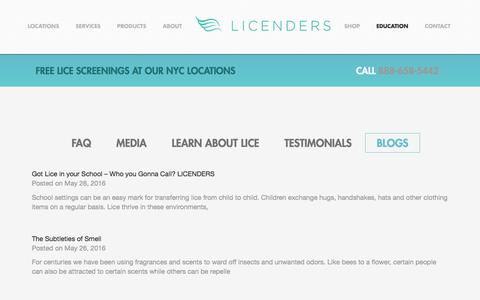 Screenshot of Blog licenders.com - Blog - LICENDERS - captured July 14, 2016