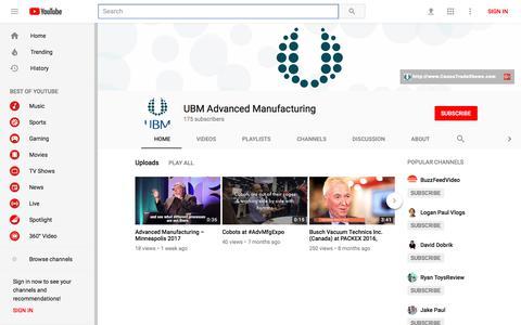UBM Advanced Manufacturing - YouTube - YouTube