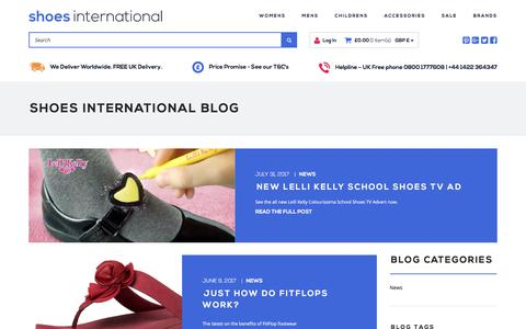 Screenshot of Blog shoesinternational.co.uk - Shoes International Blog | Shoes International - captured Aug. 14, 2017