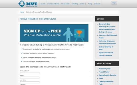Screenshot of Signup Page managing-virtual-teams.com - Motivating Employees Free Email Course - captured Oct. 4, 2014