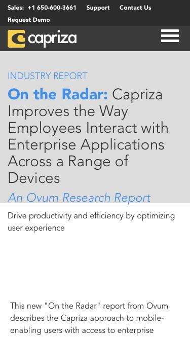 On the Radar: An Ovum Research Report | Capriza