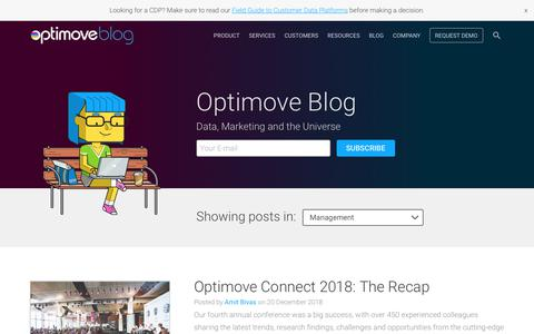 Screenshot of Team Page optimove.com - Management Archives | Optimove - captured Jan. 14, 2019