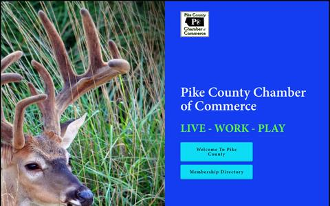 Screenshot of Home Page pikechamber.org - Pike County Chamber of Commerce - captured April 23, 2017